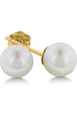 SuperJeweler 14K Kids 7MM Pearl Stud Earrings by