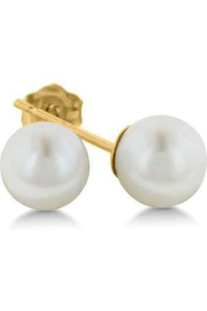 SuperJeweler 14K Kids 5MM Pearl Stud Earrings by