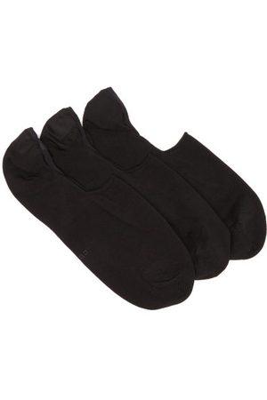 CDLP Men Socks - Pack Of Three Logo-intarsia Socks - Mens