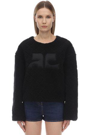 Courrèges Logo Faux Fur Sweatshirt