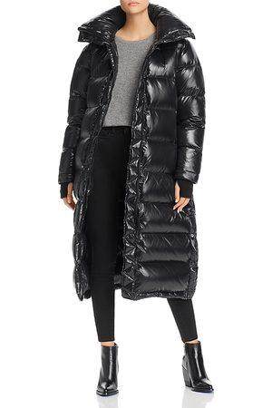 Aqua Glossy Hooded Long Puffer Coat - 100% Exclusive