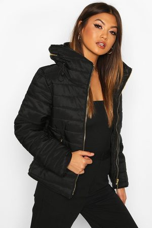Boohoo Womens Fitted Quilted Jacket - - 4