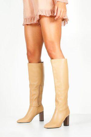 Boohoo Womens Block Heel Knee Boots - - 5