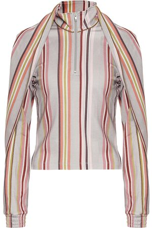Y / PROJECT Asymmetric striped blouse