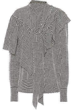 PETAR PETROV Belle houndstooth silk blouse
