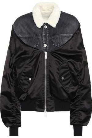UNRAVEL Faux fur-trimmed jacket