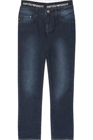 Emporio Armani Stretch cotton-blend jeans