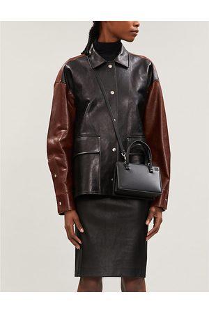 THEORY Women Pencil Dresses - High-waist leather pencil skirt
