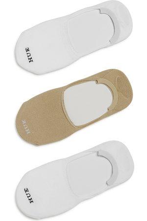 HUE Super Soft Sneaker Liner Socks, Set of 3