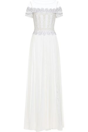 TEMPERLEY LONDON Sophia embellished silk gown