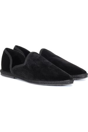 The Row Friulane velvet loafers