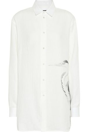 Jil Sander Heron printed cotton shirt
