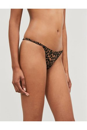 LOVE Stories Room Service stretch-jersey and lace thong