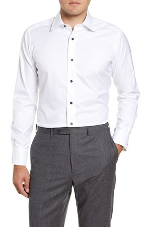 David Donahue Men's Slim Fit Solid Dress Shirt