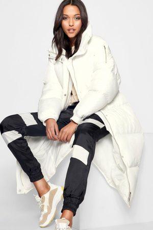 Boohoo Women Puffer Jackets - Womens Tall Longline Padded Coat - - 10