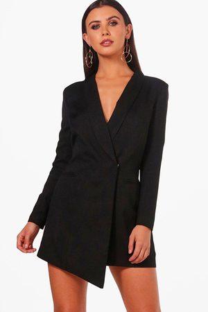 Boohoo Womens Petite Asymmetric Blazer Dress - - 2