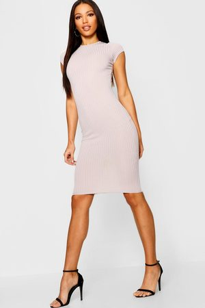 Boohoo Womens Cap Sleeved Ribbed Bodycon Dress - - 6