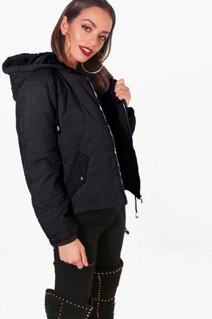 Boohoo Womens Hooded Padded Jacket - - S