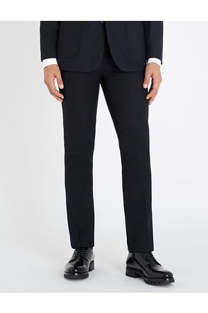 Sandro Slim-fit straight wool-blend trousers