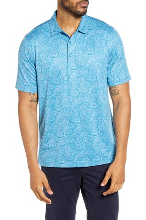 Cutter & Buck Men Polo Shirts - Men's Forge Classic Fit Paisley Print Performance Polo