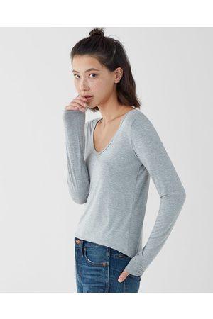Splendid Women's Madison Long Sleeve Scoop