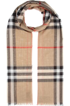 Burberry Check wool and silk scarf