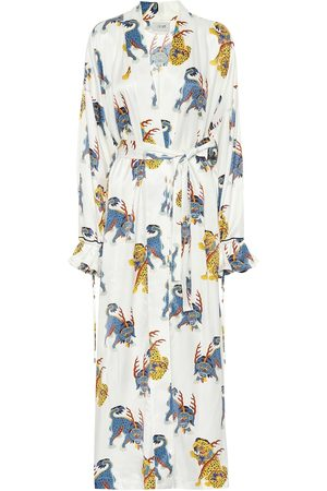 Kirin Printed cotton robe