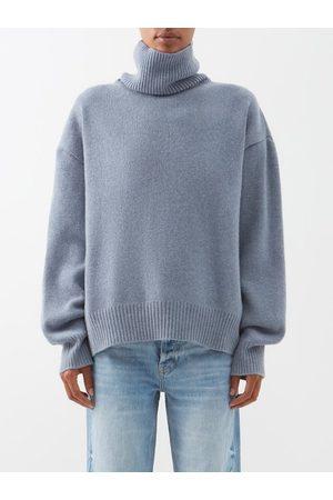 Raey Women Turtlenecks - Cropped Displaced-sleeve Roll-neck Wool Sweater - Womens