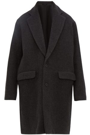 Raey Men Coats - Single-breasted Wool-blend Coat - Mens - Charcoal
