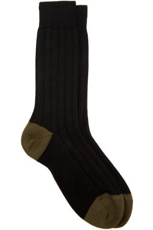 Raey Ribbed Wool Socks - Mens - Multi