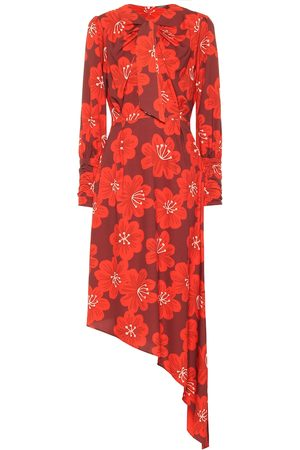 DODO BAR OR Asymmetric floral midi dress