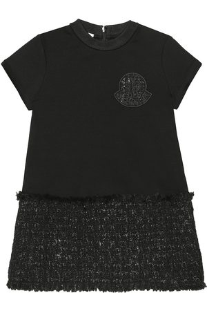 Moncler Jersey and tweed T-shirt dress