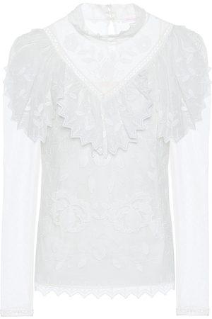 Chloé Ruffled lace top