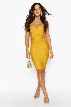 Boohoo Womens Boutique Bandage Tie Detail Mini Dress - - 2