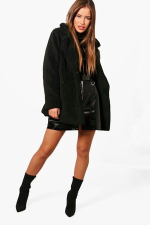 Boohoo Womens Petite Double Breasted Teddy Coat - - 6