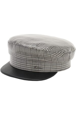 DON Check Coated Wool Sailor Cap
