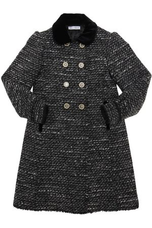 Dolce & Gabbana Acrylic & Cotton Blend Bouclé Coat