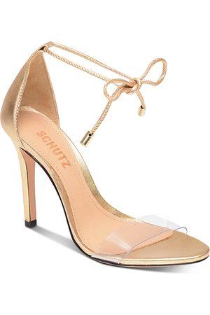 Schutz Women's Josseana Open Toe Nubuck High-Heel Sandals