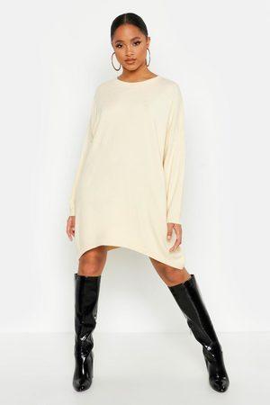 Boohoo Womens Oversized Boyfriend Knitted Dress - - S/M