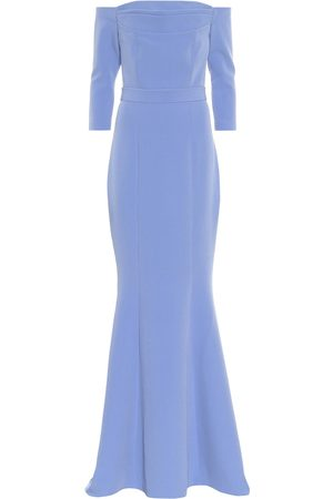 Safiyaa Off-the-shoulder crêpe gown