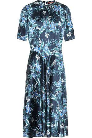 Altuzarra Floral stretch-silk midi dress