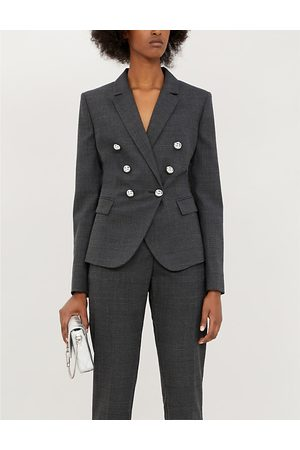 Pinko Grondaia 3 checked double-breasted woven blazer