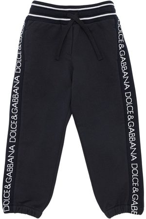 Dolce & Gabbana Cotton Sweatpants W/ Logo Bands