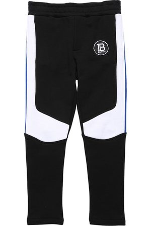 Balmain Two Tone Cotton Sweatpants