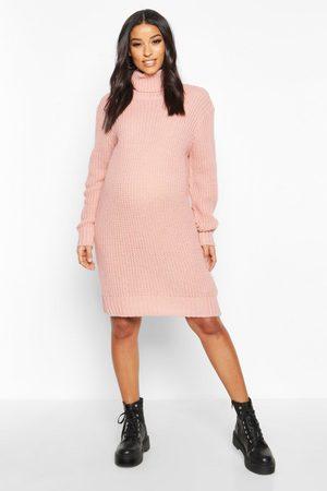 Boohoo Womens Maternity Turtleneck Sweater Dress - - S
