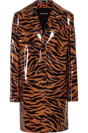 Kwaidan Editions Tiger-print vinyl coat