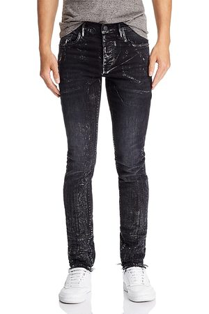 Purple Brand Metallic Detail Skinny Fit Jeans in Wash Multi