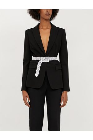 Pinko Signum 7 slim-fit stretch-ponté blazer