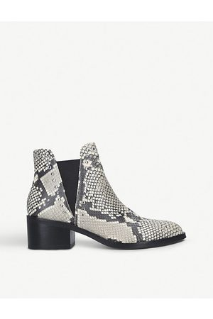 Steve Madden Women Chelsea Boots - Cade snake-print faux-leather Chelsea boots