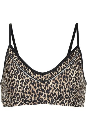 The Upside Leopard-print sports bra